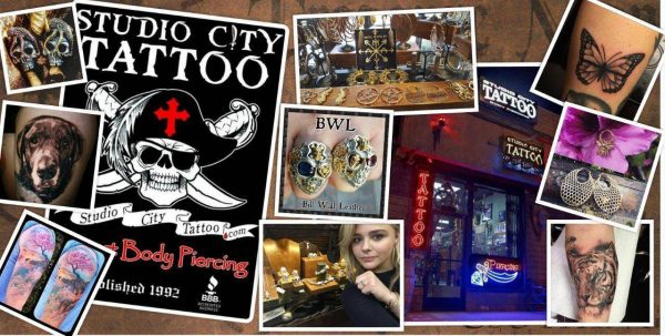 studio city tattoo jewelry collage