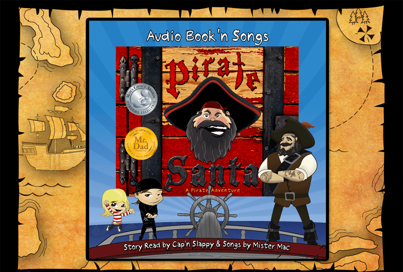 pirate santa audio book and songs