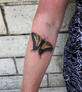 butterfly realistic tattoo eli rusakov los angeles tattoo artist