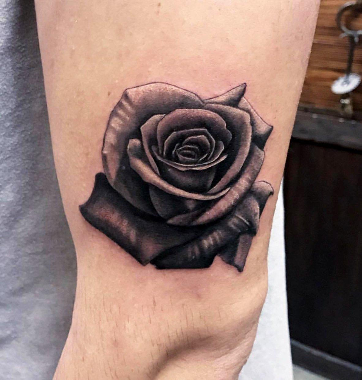 jim down tattoo artist realism black gray rose tattoo