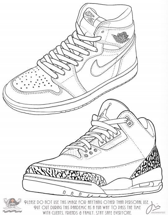 Jim Down Sneaker Drawing