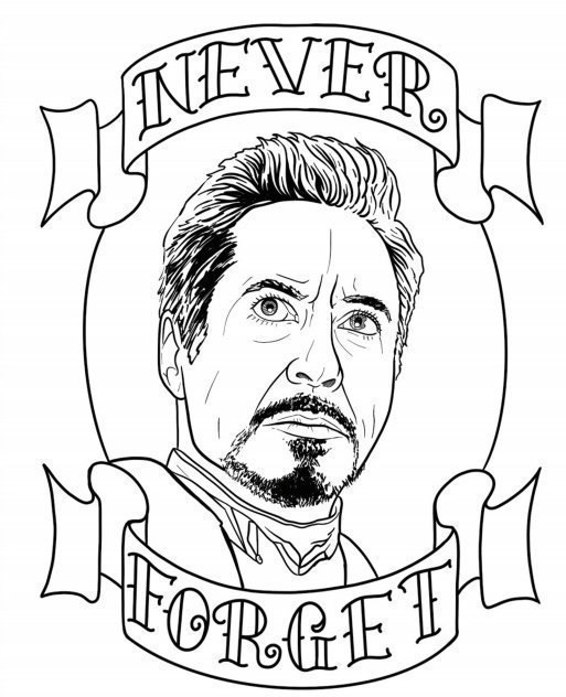 Tony Stark - Drawing by Jim Down