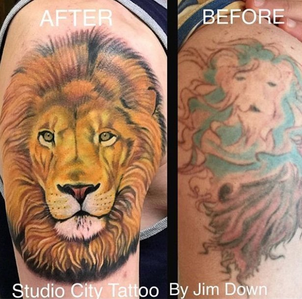 Jim Down Cover Up Tattoo Studio City Tattoo