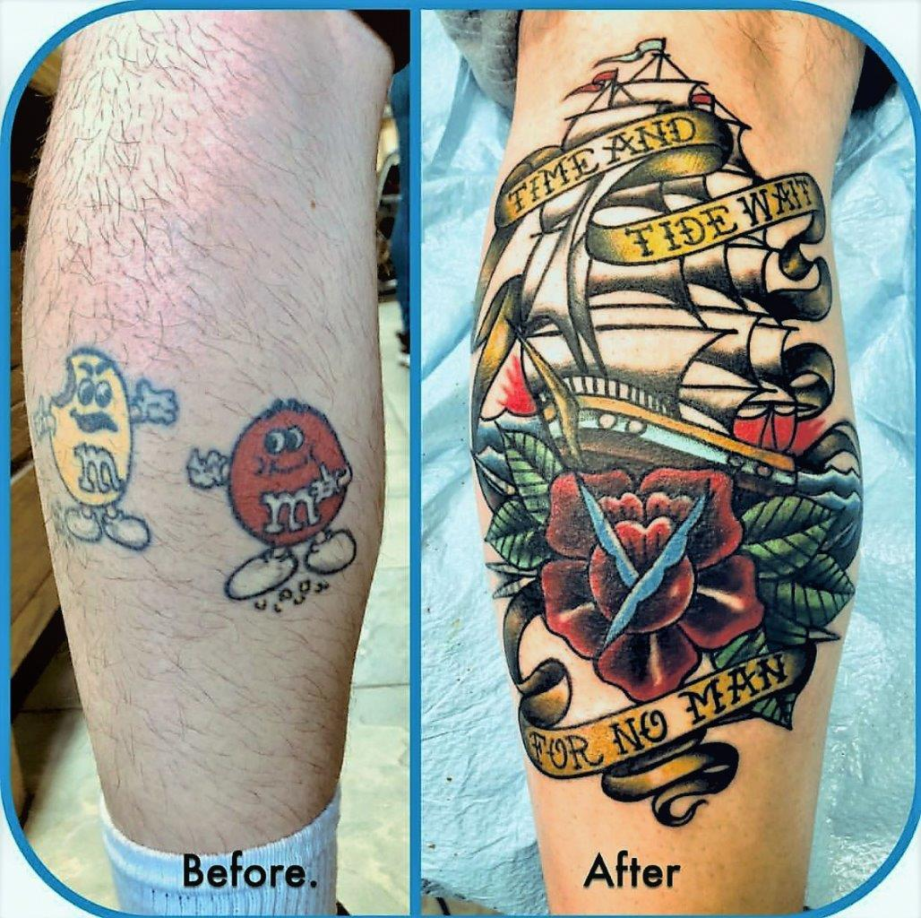 cover up tattoo studio city tattoo Capt.Dave traditional