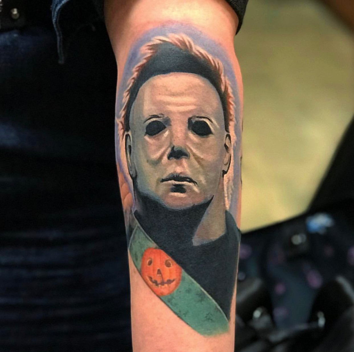 jim down los angeles mike myers tattoo portrait