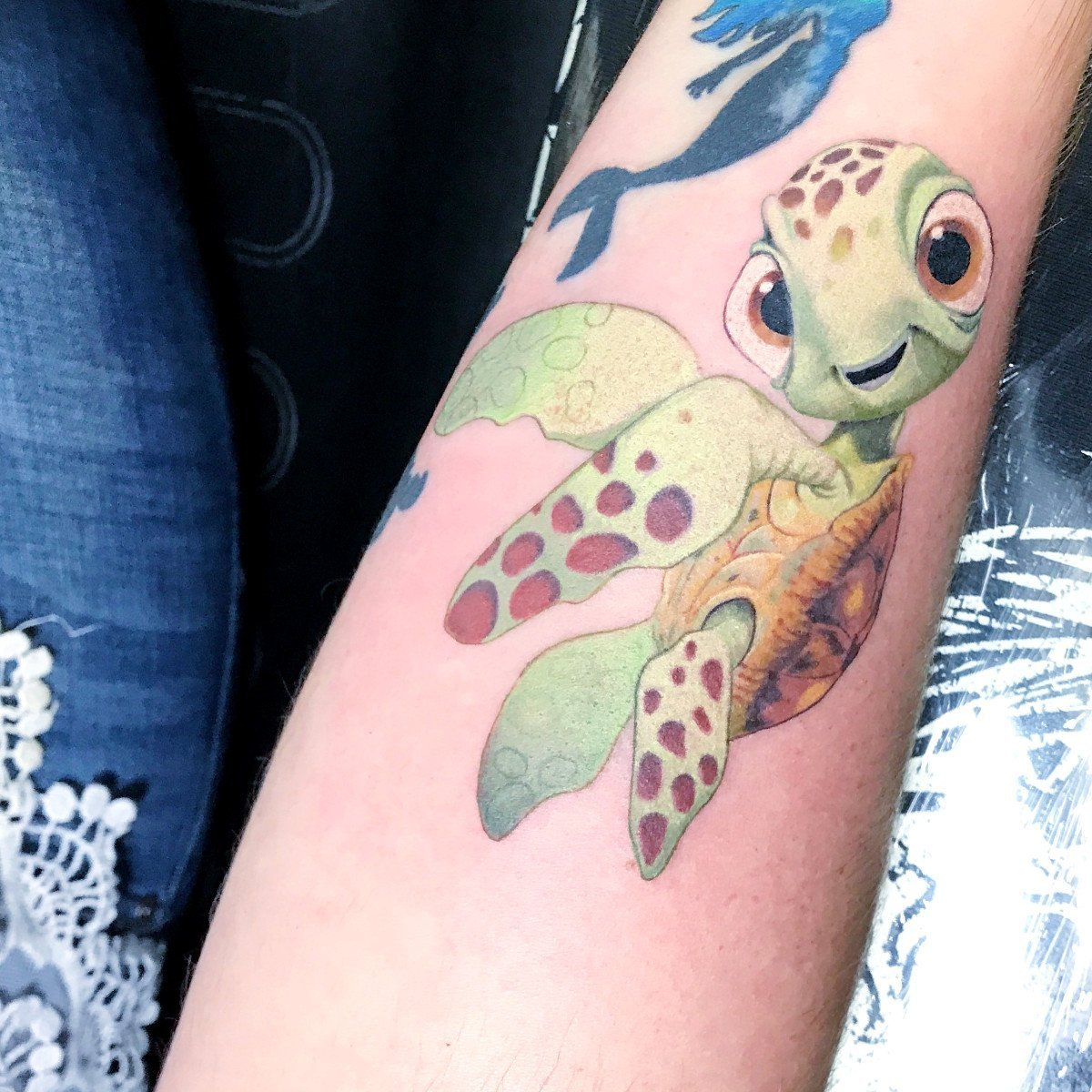 jim down tattoo artist color tattoo turtle