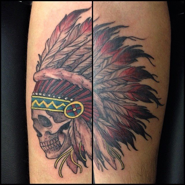 danny dunbar LA tattoo artist indian chief