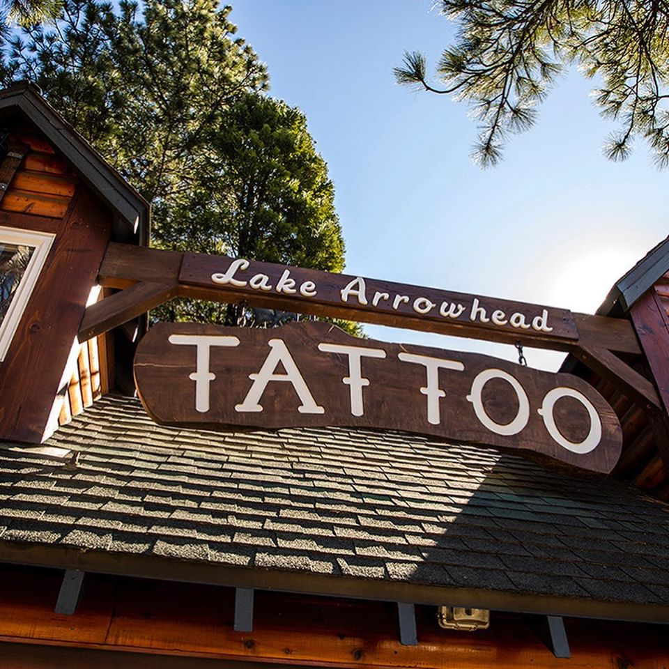 Lake Aroowhead Tattoo sign