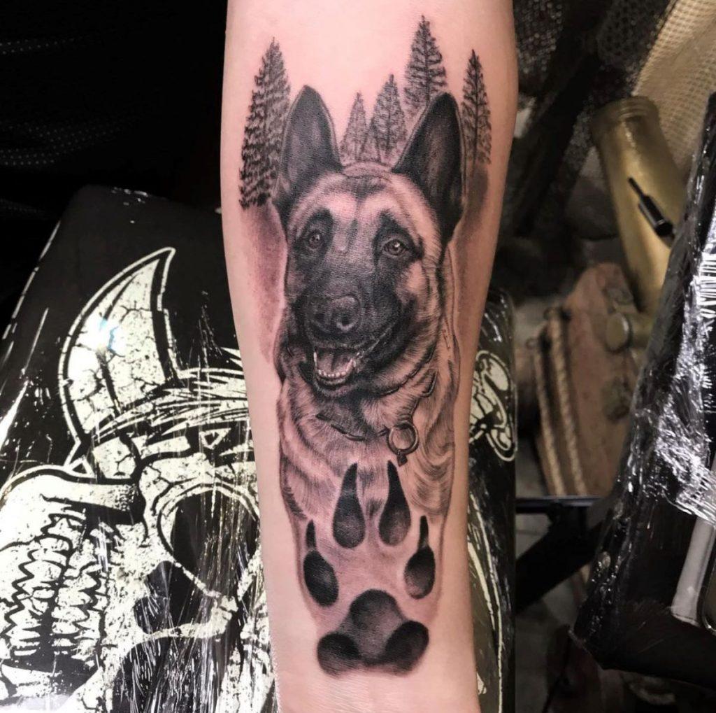 jim down tattoo artist dog portrait memorial