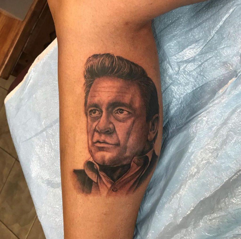 jim down tattoo artist johnny cash web