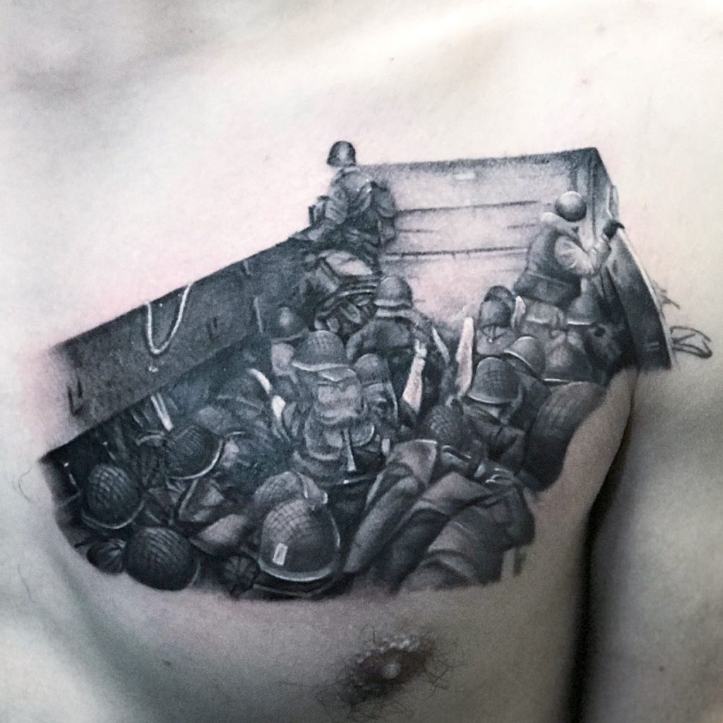 jim down tattoo artist los angeles battle of normany