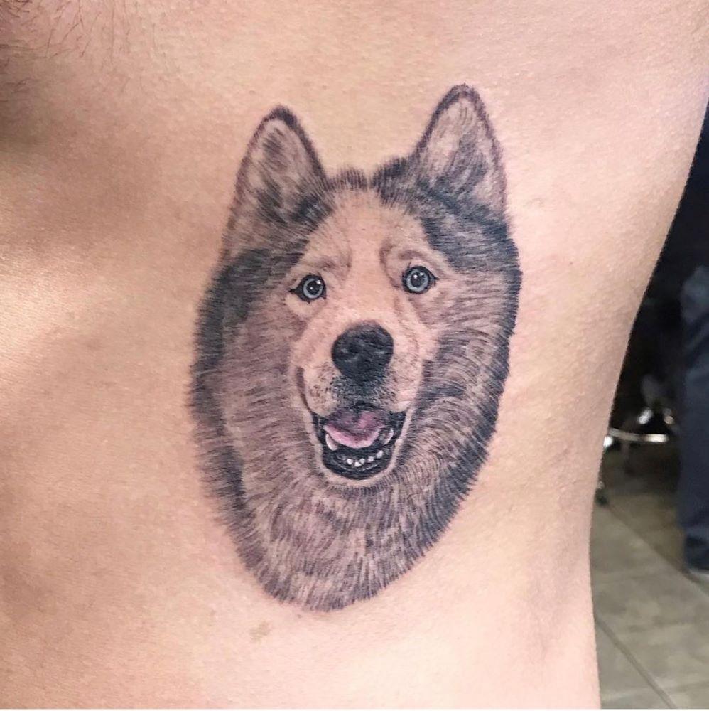 jim down tattoo artist los angeles wolf portrait web