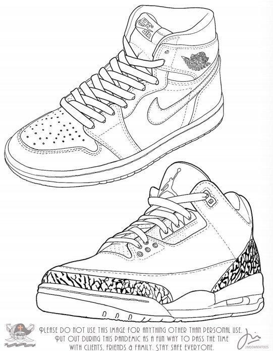 Jim Down Sneaker Drawing