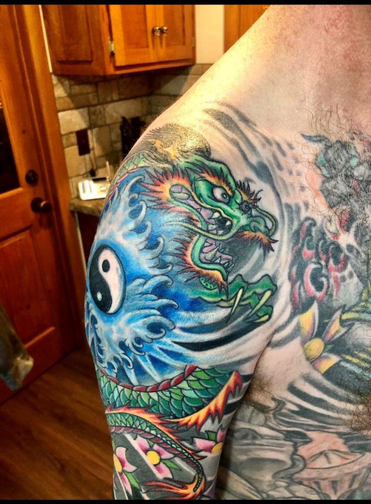 Captn Dave Japanese tattoo arm sleeve