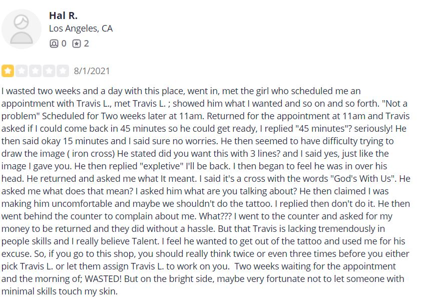 Racist Review 1 star